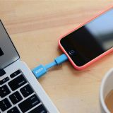 "Kero Nomad 3"" Portable Lightning to USB Sync Travel Keyring Cable - Blue"